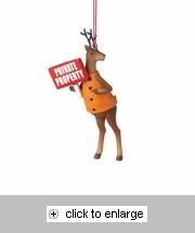 Item # 261580 - Deer With Sign Christmas Ornament