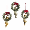 Item # 261754 - Resin Cat In Wreath Christmas Ornament