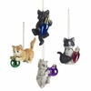 Item # 261757 - Resin Kitten Playing Christmas Ornament