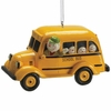 Item # 261819 - Resin Snowman In School Bus Christmas Ornament