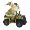 Item # 261830 - Resin Santa Hunter On ATV Ornament