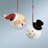 Item # 261834 - Santa/Snowman Golf Ball Ornament