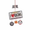 Item # 262569 - I Love Racing Christmas Ornament