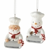 Item # 262862 - Santa/Snowman Chef Christmas Ornament