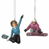 Item # 262907 - Female Snowboarder Christmas Ornament