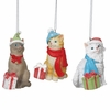 Item # 262959 - Bundled Up Cat Christmas Ornament 3A