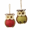 Item # 281109 - Red/Green Owl Ornament