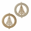 Item # 281179 - Gold/Platinum Christmas Tree Disc Christmas Ornament