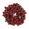 "Item # 281197 - 4"" Red Beaded Berry Wreath Ornament"
