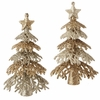 Item # 281201 - Gold Glittered Christmas Tree Christmas Ornament