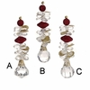 Item # 281211 - Red/Gold/Clear Beaded Drop Ornament