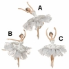 "Item # 281384 - 6"" White Ballerina Christmas Ornament"
