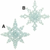 "Item # 281421 - 5"" Glittered Snowflake Ornament"