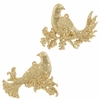 "Item # 281465 - 4"" Gold Glittered Partridge Ornament"