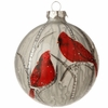 "Item # 281546 - 4"" Cardinal Ball Christmas Ornament"