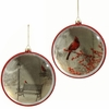 "Item # 281769 - 6"" Cardinal Disc Christmas Ornament"