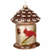 "Item # 281811 - 4.5"" Brown/Red Birdhouse Ornament"