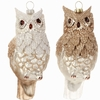 "Item # 281830 - 5"" White Glittered Owl Ornament"