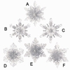 Item # 281838 - Clear Snowflake Ornament