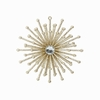 Item # 281853 - Gold Starburst With Jewel Ornament