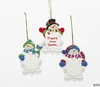 Item # 291005 - Snowman Snowflake Christmas Ornament