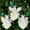 Item # 291091 - White Metal Angel Christmas Ornament