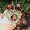 Item # 291121 - Angel Heart Shape Photo Frame Christmas Ornament