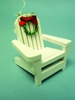 Item # 294321 - Wooden Outer Banks Beach Chair Christmas Ornament