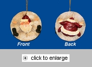 Item # 294345 - Sand Dollar Santa Ornament