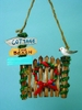 Item # 294404 - Wood Outer Banks Christmas Gate Christmas Ornament