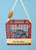 Item # 294493 - Blue Crab Trap Christmas Ornament With Outer Banks Personalization