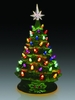 Item # 322001 - Light Up Green/Multicolor Christmas Is Forever Tree Sit Around