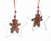 "Item # 360089 - 4.72"" Gingerbread Star Christmas Ornament"