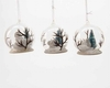 """Item # 360122 - 3.15"""" Glass/Resin Woodland Animal In Dome Christmas Ornament"""