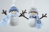 Item # 360151 - Blue/White/Gray Snowman Ornament