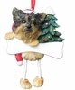 Item # 407005 - Resin Puppy Cut Yorkie Dangle Christmas Ornament