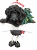 Item # 407009 - Resin Black Labradoodle Dangle Ornament