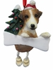 Item # 407015 - Resin Jack Russell Dangle Christmas Ornament
