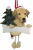 Item # 407019 - Resin Yellow Labrador Dangle Christmas Ornament