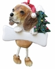 Item # 407028 - Resin Beagle Dangle Christmas Ornament