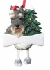Item # 407032 - Resin Cropped Schnauzer Dangle Christmas Ornament