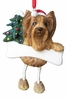 Item # 407040 - Resin Yorkie Dangle Christmas Ornament