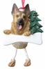 Item # 407046 - Resin German Shepherd Dangle Christmas Ornament