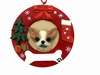 Item # 407057 - Tan Chihuahua Circle-Shaped Christmas Ornament