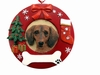 Item # 407059 - Red Dachshund Circle-Shaped Christmas Ornament