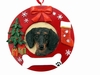 Item # 407060 - Black Dachshund Circle-Shaped Christmas Ornament