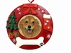 Item # 407061 - Golden Retriever Circle-Shaped Christmas Ornament