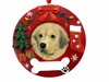 Item # 407062 - Yellow Labrador Circle-Shaped Christmas Ornament