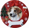 Item # 407063 - Jack Russell Circle-Shaped Christmas Ornament