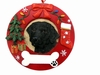 Item # 407064 - Black Labrador Circle-Shaped Christmas Ornament